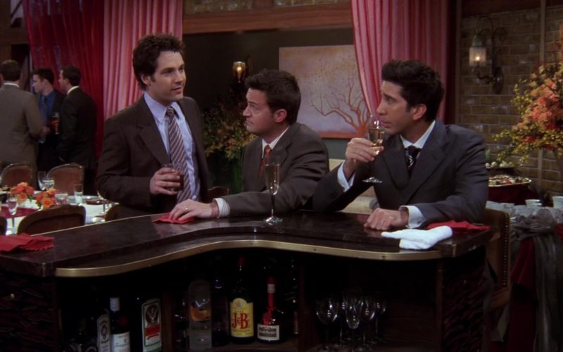Jägermeister and J&B Scotch Whisky in Friends