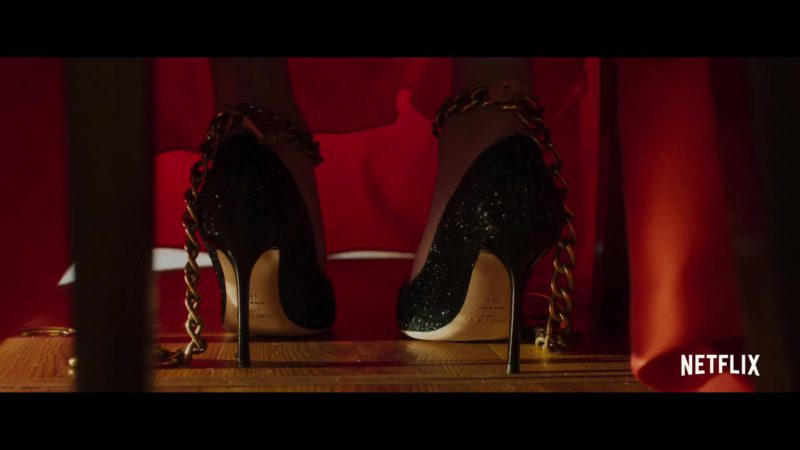 Jimmy Choo High Heel Shoes in The Perfection (2018) Movie Product Placement