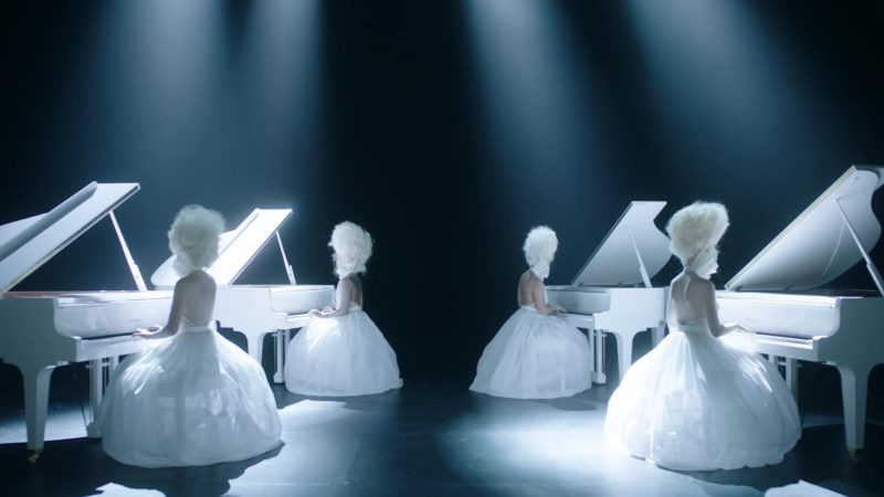 K. Kawai White Pianos in Medicine by Jennifer Lopez ft. French Montana (2019) - Official Music Video Product Placement