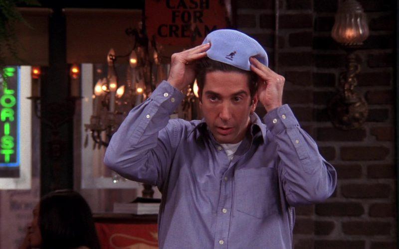 Kangol Blue Flat Cap Worn by David Schwimmer (Ross Geller) in Friends Season 10 Episode 9 (2)