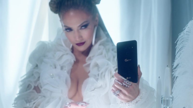 "LG G8 ThinQ Android Smartphone Held by Jennifer Lopez in ""Medicine"" (2019) - Official Music Video Product Placement"