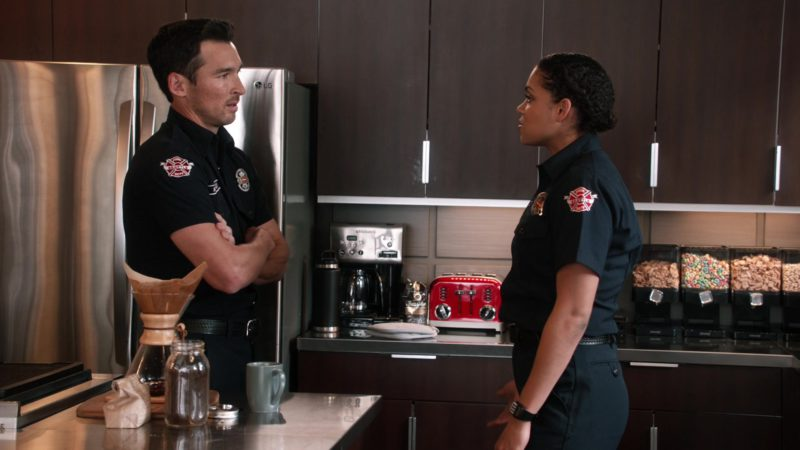 """LG Refrigerator in Station 19 - Season 2, Episode 14, """"Friendly Fire"""" (2019) - TV Show Product Placement"""