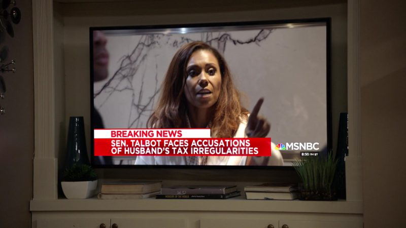 MSNBC Television Channel in Veep - Season 7, Episode 5, Super Tuesday (2019) - TV Show Product Placement