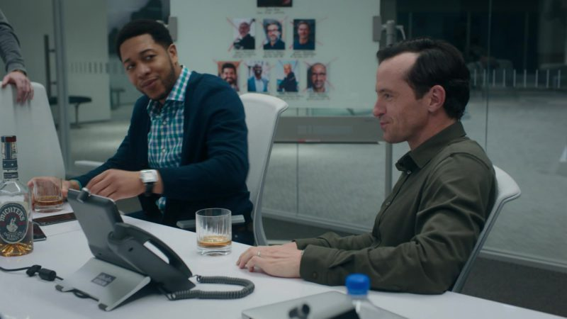 Michter's US 1 Kentucky Straight Bourbon and Cisco Telephone in Billions – Season 4 Episode 5, A Proper Sendoff (2019) TV Show Product Placement