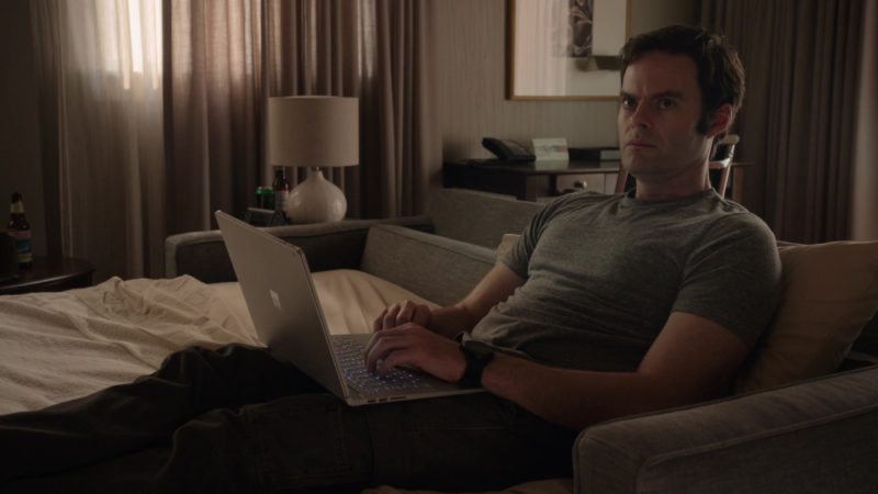 Microsoft Surface Notebook Held by Bill Hader in Barry - Season 1, Episode 5, Chapter Five: Do Your Job (2018) TV Show Product Placement