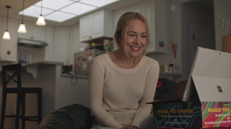 Microsoft Surface Tablet Used by Sarah Goldberg (Sally Reed) in Barry - Season 2, Episode 3, Past Equals Present x Future Over Yesterday (2019) - TV Show Product Placement