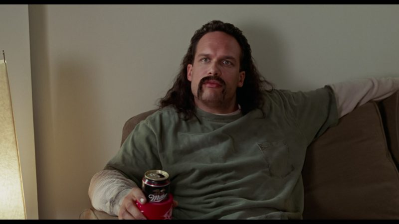 Miller Beer Drunk by Diedrich Bader in Office Space (1999) - Movie Product Placement