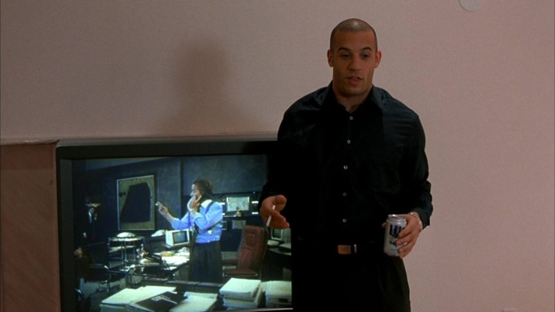 Miller Lite Beer Drunk by Vin Diesel in Boiler Room (2000) Movie Product Placement