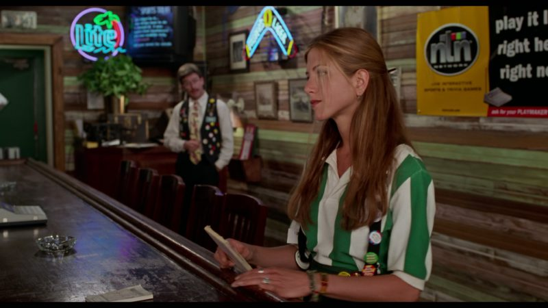 Miller Lite Neon Sign in Office Space (1999) - Movie Product Placement