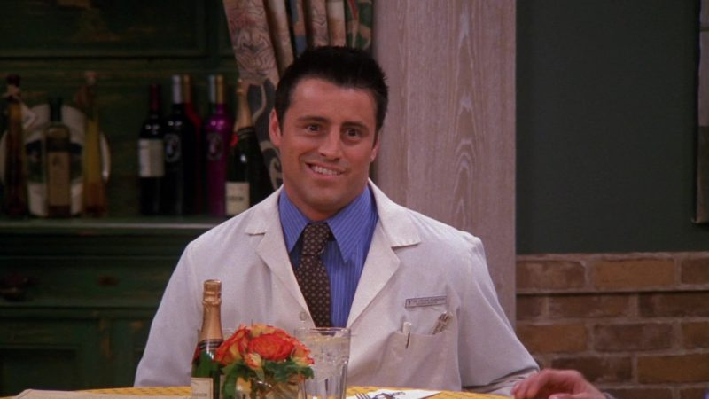 """Moët & Chandon Champagne Mini Bottle in Friends Season 9 Episode 11 """"The One Where Rachel Goes Back to Work"""" (2003) - TV Show Product Placement"""