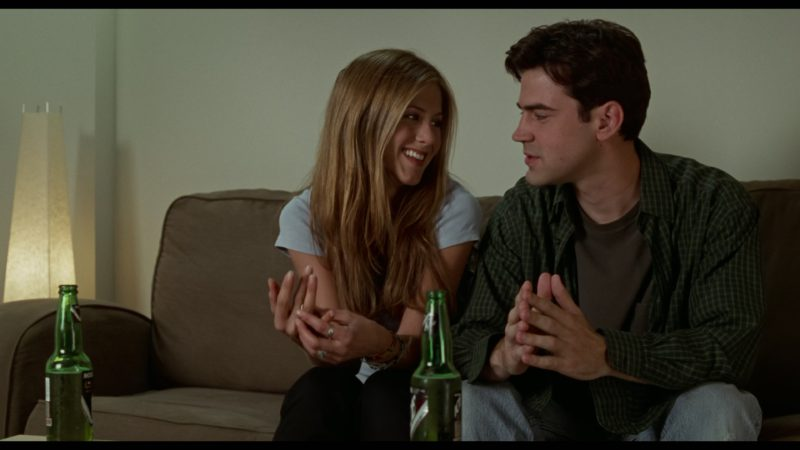 Molson Ice Beer Drunk by Jennifer Aniston & Ron Livingston in Office Space (1999) - Movie Product Placement