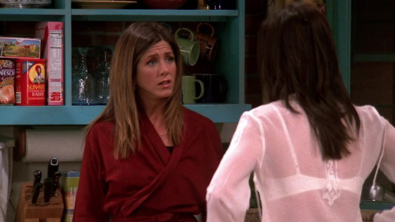 """Nescafe Coffee, Sun-Maid Raisins & Kellogg's Cereal in Friends Season 9 Episode 20 """"The One With the Soap Opera Party"""" (2003) - TV Show Product Placement"""