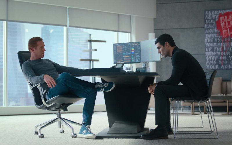 New Balance Blue Sneakers Worn by Damian Lewis (Bobby Axelrod) in Billions (1)