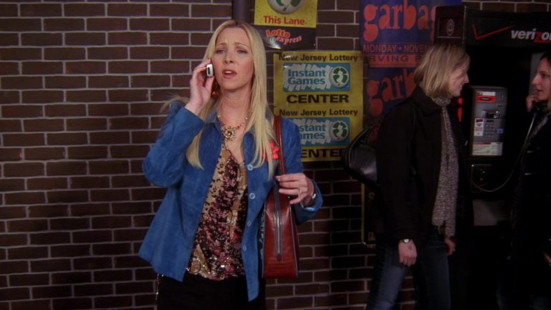 """New Jersey Lottery and Verizon Payphone in Friends Season 10 Episode 15 """"The One Where Estelle Dies"""" (2004) TV Show"""