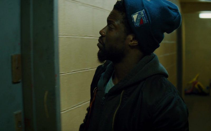 New York Rangers Ice Hockey Team Blue Beanie Worn by Kevin Hart in The Upside