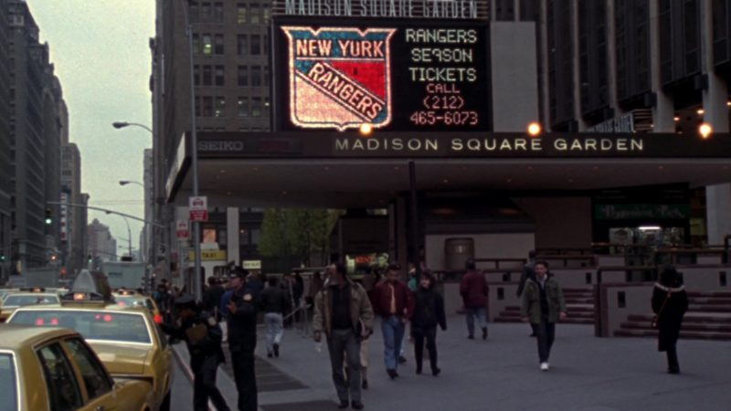 """New York Rangers Ice hockey Team & Madison Square Garden in Friends Season 10 Episode 8 """"The One With the Late Thanksgiving"""" (2003) - TV Show Product Placement"""