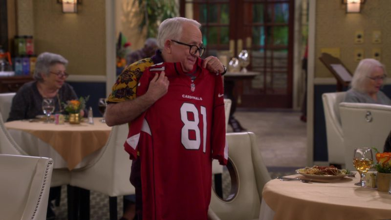Nike Arizona Cardinals x NFL Jersey Held by Leslie Jordan in The Cool Kids - Season 1, Episode 20, Indecent Proposal (2019) - TV Show Product Placement
