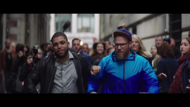 Nike Blue Sports Jacket Worn by Seth Rogen in Long Shot (2019) - Movie Product Placement