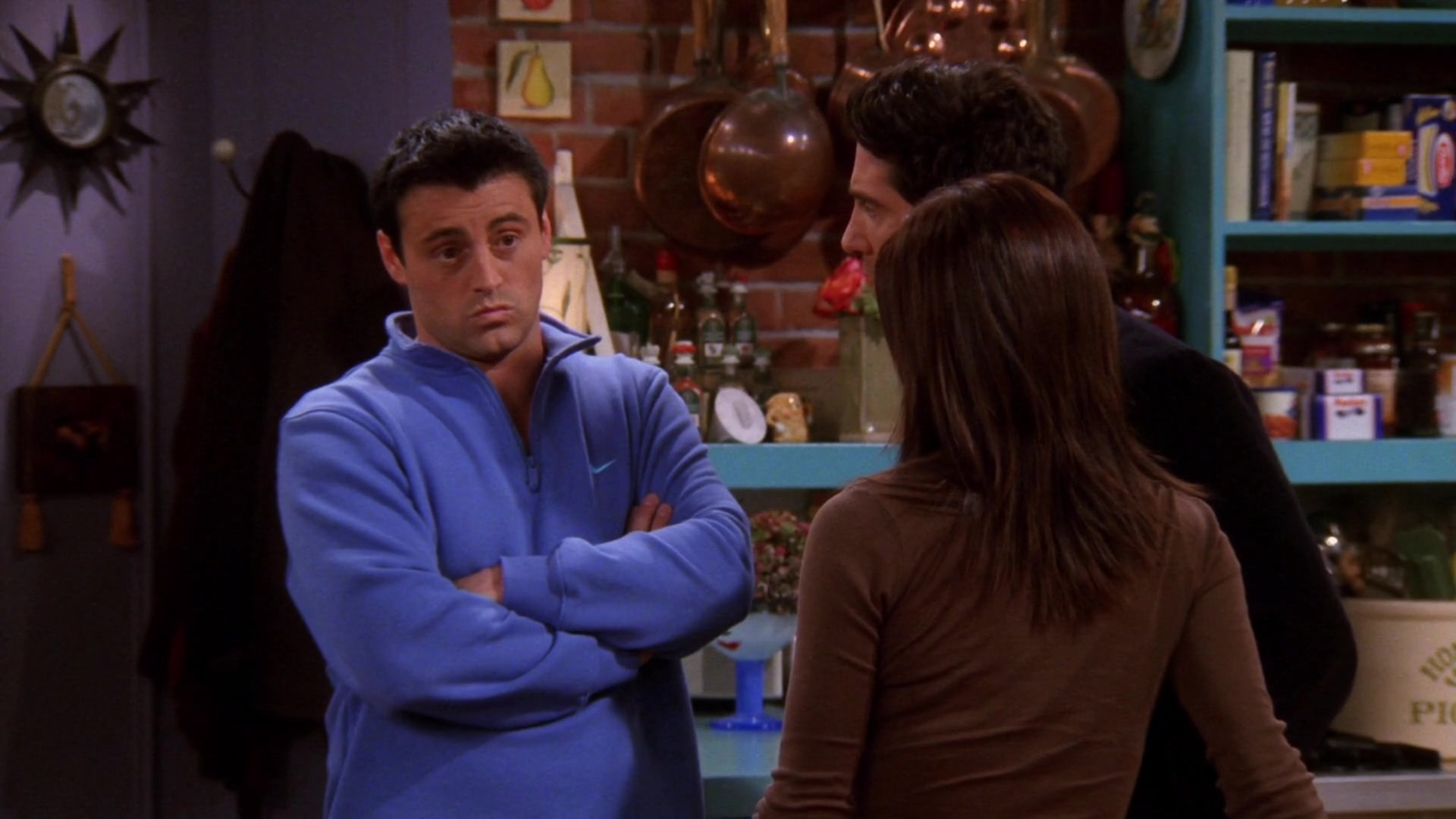 Nike Blue Sweatshirt Worn by Matt LeBlanc (Joey Tribbiani