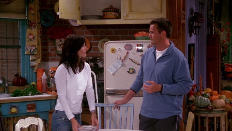 "Nike Jacket Worn by Matthew Perry (Chandler Bing) in Friends Season 9 Episode 8 ""The One With Rachel's Other Sister"" (2002) TV Show Product Placement"