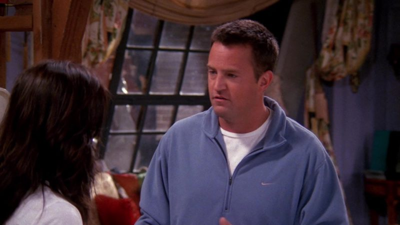 "Nike Jacket Worn by Matthew Perry (Chandler Bing) in Friends Season 9 Episode 8 ""The One With Rachel's Other Sister"" (2002) - TV Show Product Placement"