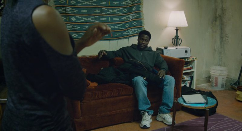 Nike Sneakers (White) Worn by Kevin Hart in The Upside (2017) Movie Product Placement