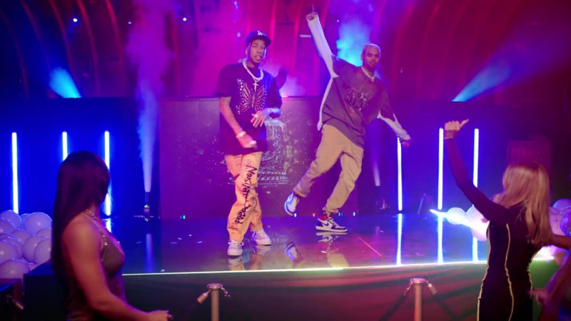 """Nike Sneakers Worn by Chris Brown in """"Light It Up"""" by Marshmello & Tyga (2019) Official Music Video"""