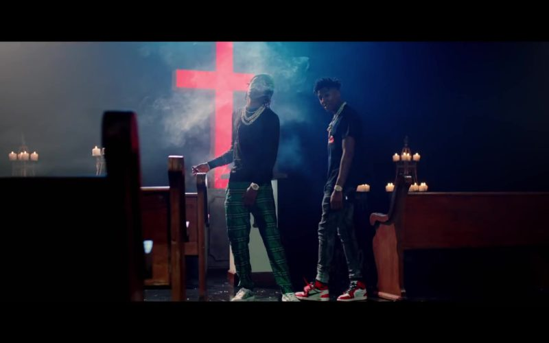 Nike Sneakers Worn by YoungBoy Never Broke Again in 'For Keeps' ft. Rich The Kid