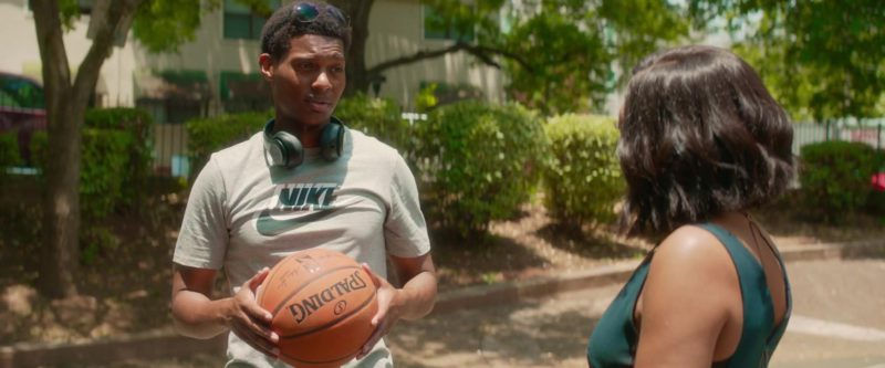 Nike T-Shirt and Spalding Basketball Used by Shane Paul McGhie in What Men Want (2019) Movie Product Placement