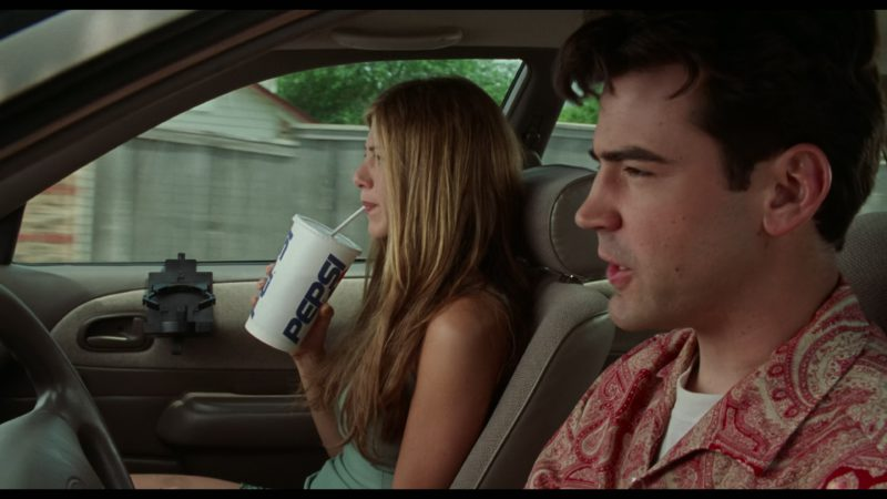 Pepsi Cup Held by Jennifer Aniston in Office Space (1999) - Movie Product Placement