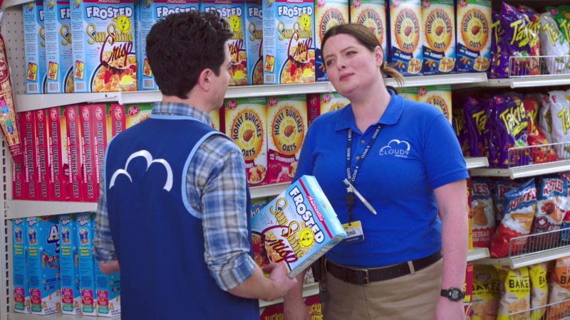Post Honey Bunches Cereal, Takis, Ruffles and Lay's Chips in Superstore – Season 4, Episode 15, Salary (2019) - TV Show Product Placement