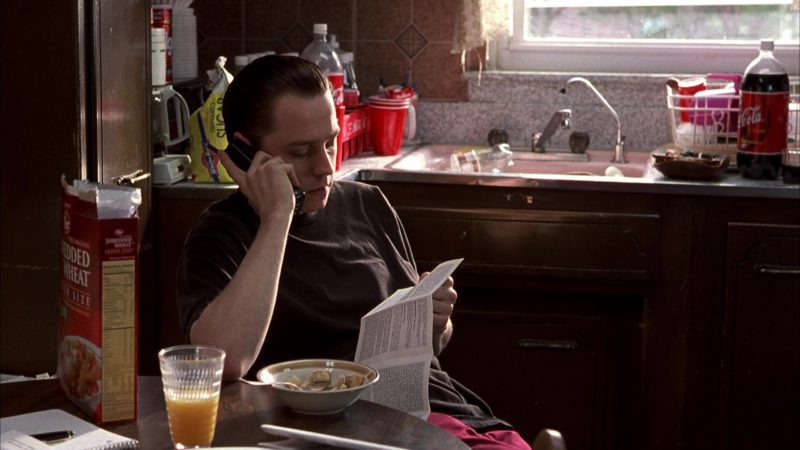 Post Shredded Wheat Cereal Eaten by Giovanni Ribisi and Coca-Cola in Boiler Room (2000) Movie Product Placement