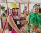Prada Yellow Logo Bucket Hat and Black Top Worn by Anitta (2)