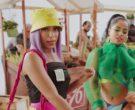 Prada Yellow Logo Bucket Hat and Black Top Worn by Anitta (3)