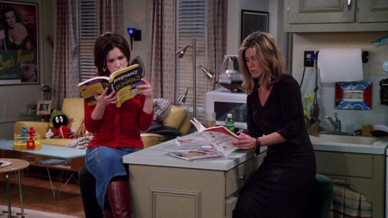 "Pregnancy for Dummies Book Held by Marla Sokoloff (Dina Tribbiani) in Friends Season 8 Episode 10 ""The One With Monica's Boots"" (2001) - TV Show Product Placement"