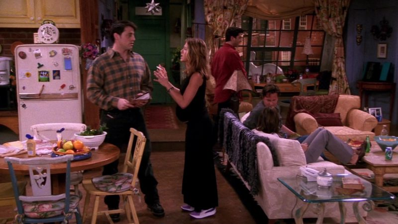"""Puma Purple Sneakers Worn by Jennifer Aniston (Rachel Green) in Friends Season 8 Episode 19 """"The One With Joey's Interview"""" (2002) - TV Show Product Placement"""