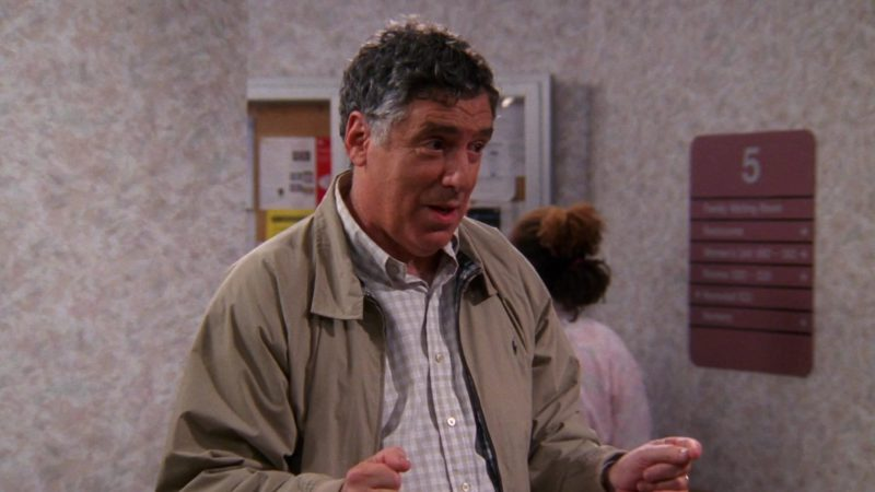 "Ralph Lauren Men's Jacket Worn by Elliott Gould (Jack Geller) in Friends Season 9 Episode 1 ""The One Where No One Proposes"" (2002) TV Show Product Placement"