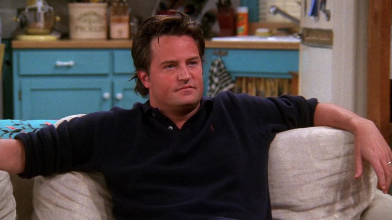 "Ralph Lauren Shirt Worn by Matthew Perry (Chandler Bing) in Friends Season 8 Episode 13 ""The One Where Chandler Takes a Bath"" (2002) - TV Show Product Placement"