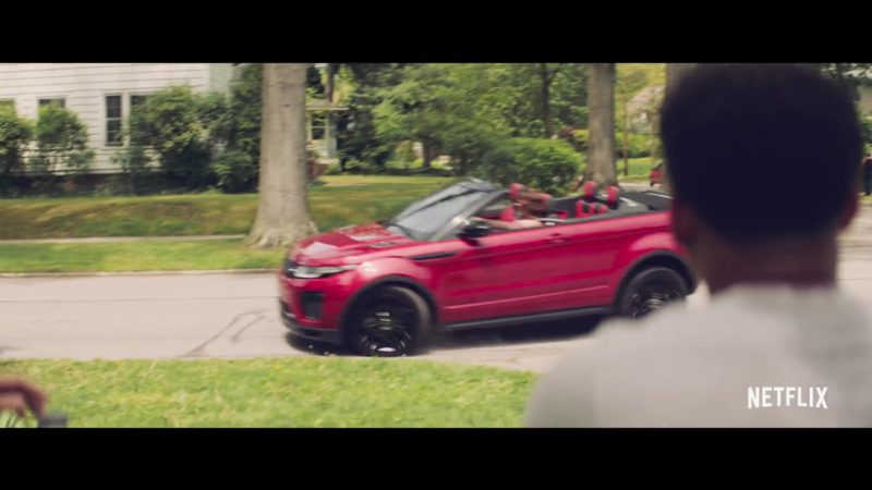 Range Rover Evoque Convertible Red Car in The Last Summer (2019) - Movie Product Placement