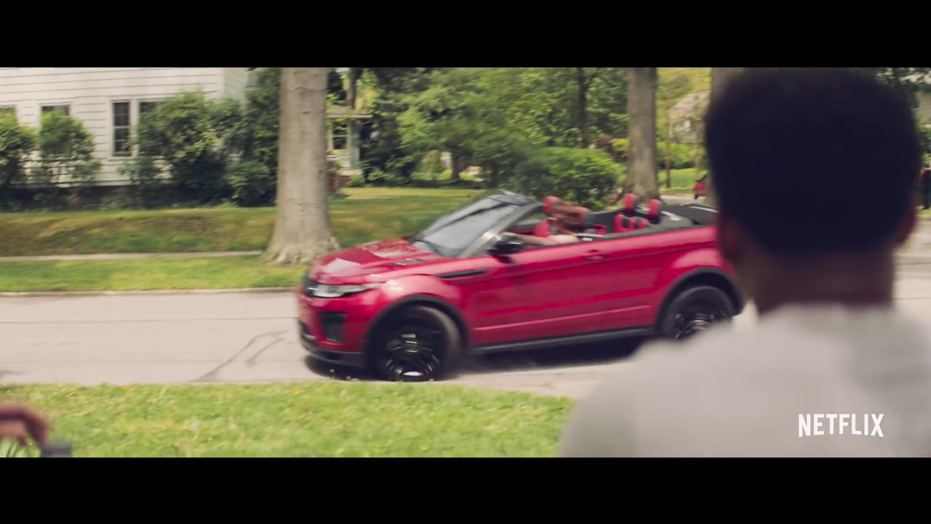 Range Rover Evoque Convertible Red Car In The Last Summer