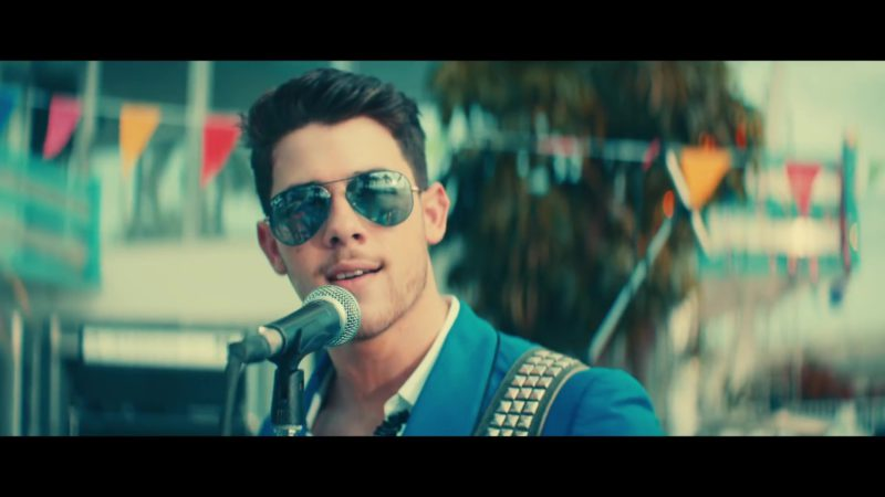 "Ray-Ban Aviator Sunglasses Worn by Nick Jonas in ""Cool"" by Jonas Brothers (2019) Official Music Video Product Placement"