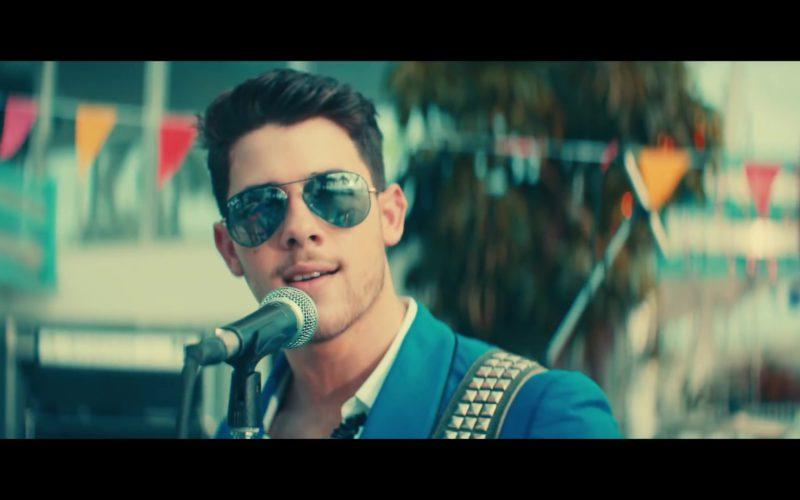 "Ray-Ban Aviator Sunglasses Worn by Nick Jonas in ""Cool"" by Jonas Brothers (5)"