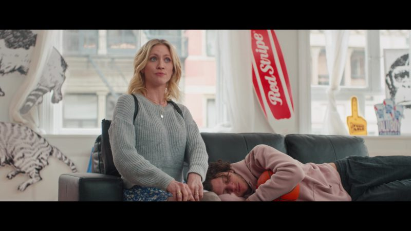 Red Stripe Beer Sign in Someone Great (2019) Movie Product Placement