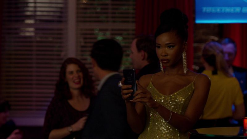 Samsung Galaxy Android Smartphone Used by Actress in Dynasty - Season 2, Episode 17, How Two-Faced Can You Get (2019) - TV Show Product Placement