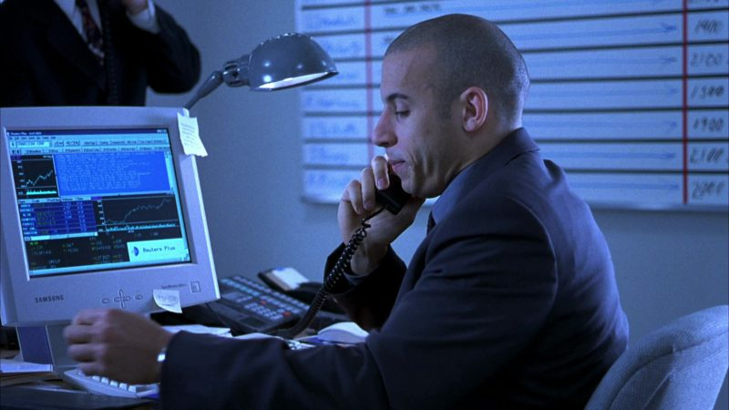 Samsung Monitor Used by Vin Diesel in Boiler Room (2000) Movie Product Placement