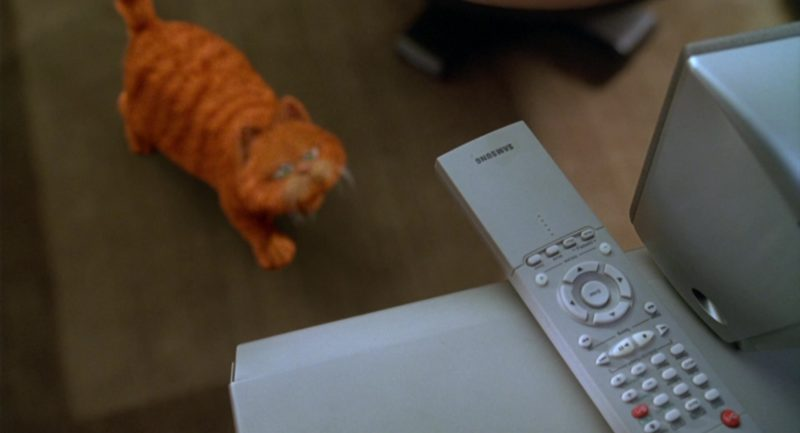 Samsung TV Remote in Garfield (2004) Movie Product Placement