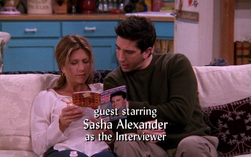 Soap Opera Digest Magazine Held by Jennifer Aniston (Rachel Green) in Friends (1)