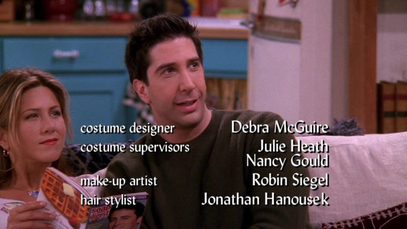 """Soap Opera Digest Magazine Held by Jennifer Aniston (Rachel Green) in Friends Season 8 Episode 19 """"The One With Joey's Interview"""" (2002) - TV Show Product Placement"""