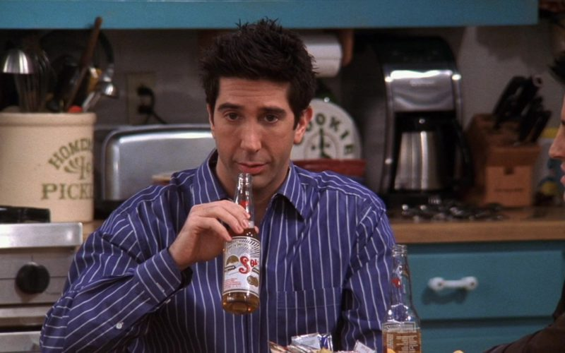 Sol Beer Drunk by David Schwimmer (Ross Geller) in Friends Season 10 (1)