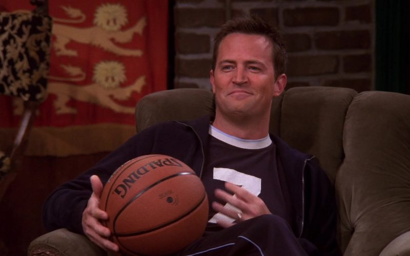 Spalding Basketball Held by Matthew Perry (Chandler Bing) in Friends Season 10 Episode 7 (2)
